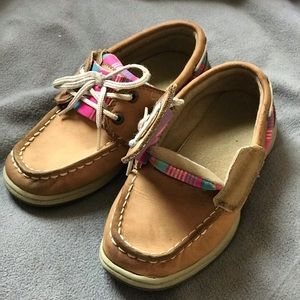Girls 10.5 Sperry Tan Boat Shoe